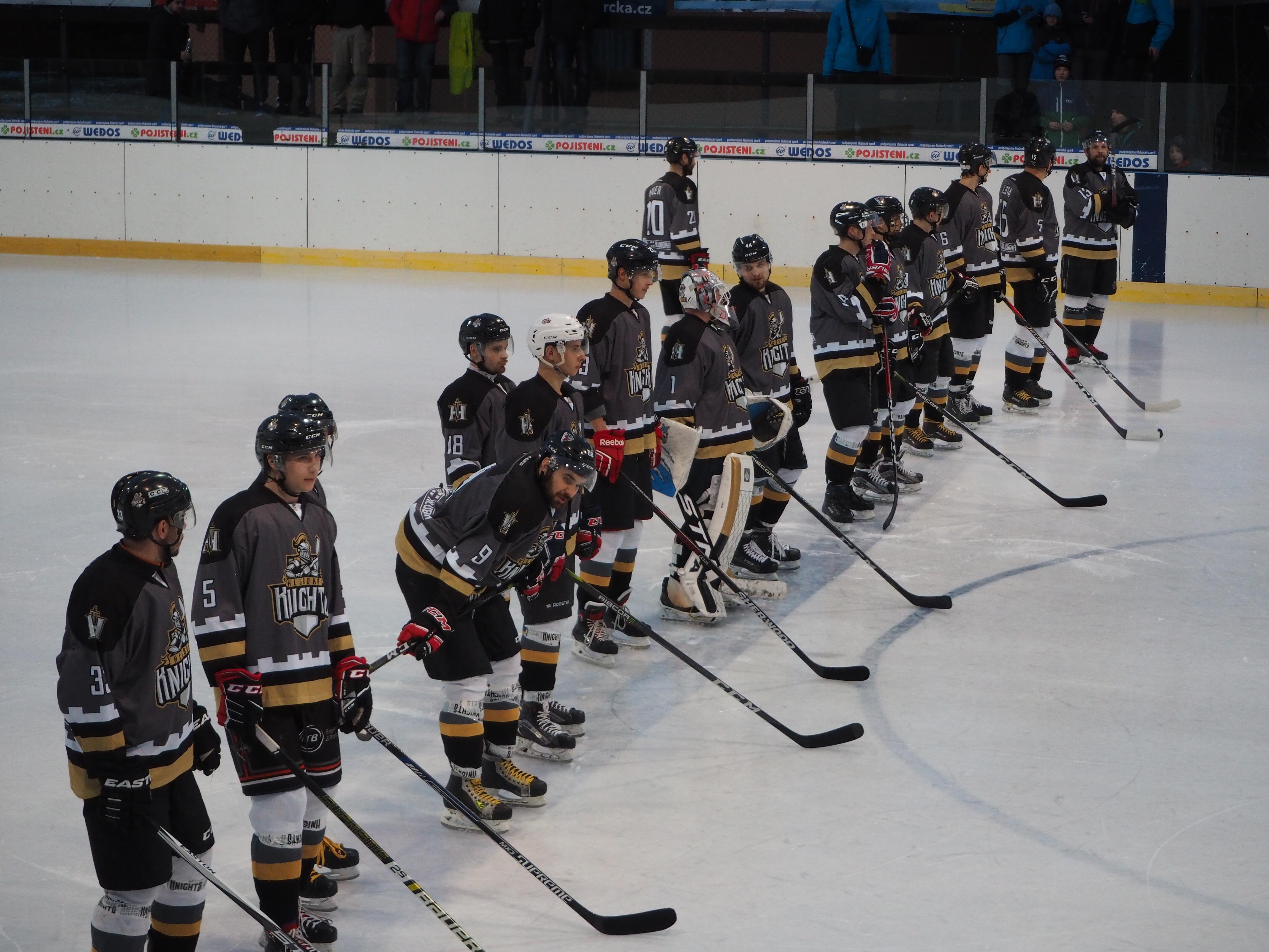 """HC Knights vs. HC Lední Medvědi Pelhřimov """"B"""" 27. 1. 2019"""